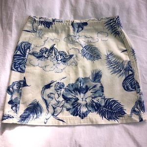 NWT Urban Outfitters BDG Printed Denim Skirt